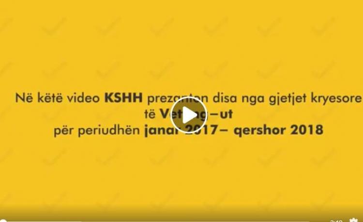 KShH prezanton gjetjet kryesore te monitorimit te Vetting Jan'17 - Qer'18